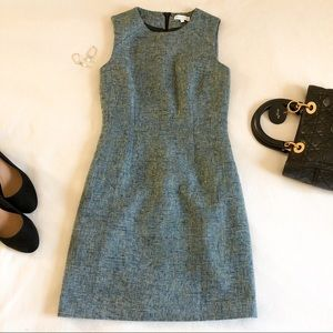 Warehouse teal blue tweed 60s style shift dress